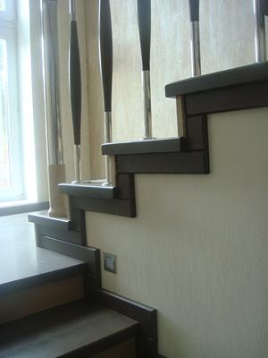 отделка лестниц деревом фото