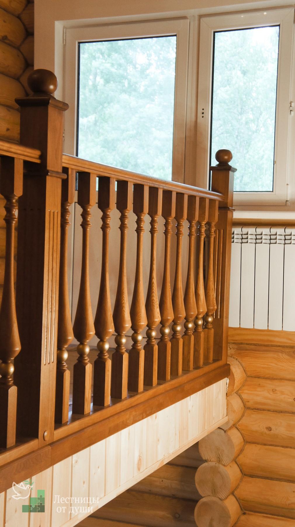 Ограждение второго света в деревянном доме