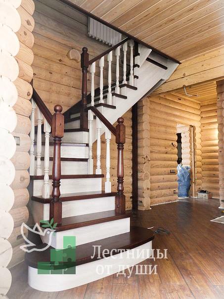 Лестница из дуба в пос. Каменка, Новая Москва