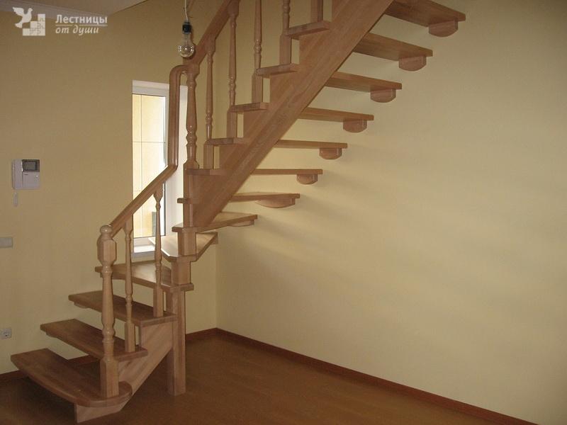 Лестница в доме без подступенков
