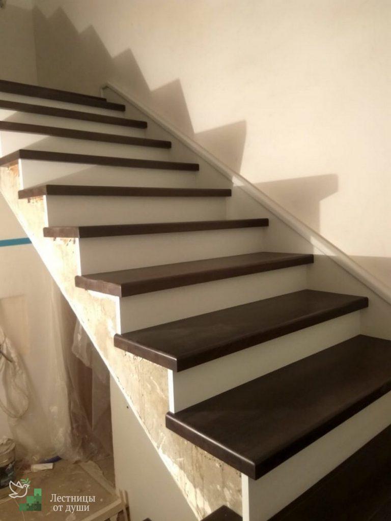 Отделка лестниц из бетона москва бетонная смесь для стяжки пола пропорции