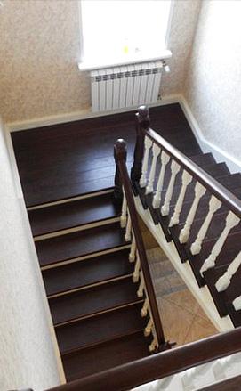 Двухмаршевая лестница с площадкой