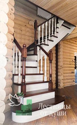 Контрастная лестница из дуба