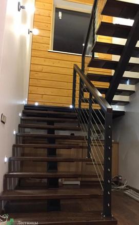 Лестница на металлическом монокосоуре